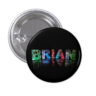 The Name Brian in 3D Lights Button