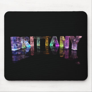 The Name Brittany in 3D Lights Mouse Pad