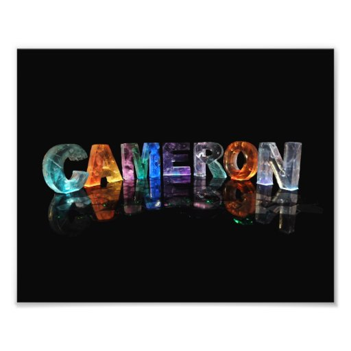 The Name Cameron in Fancy Letters Photograph