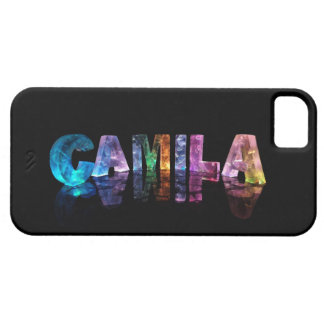 The Name Camila in 3D Lights iPhone SE/5/5s Case