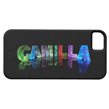 The Name Camilla in 3D Lights iPhone 5 Cases