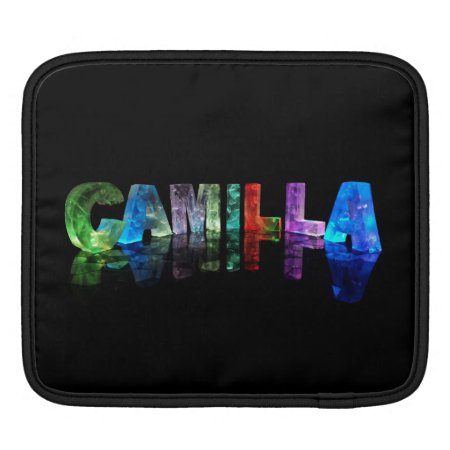 The Name Camilla in 3D Lights Sleeve For iPads
