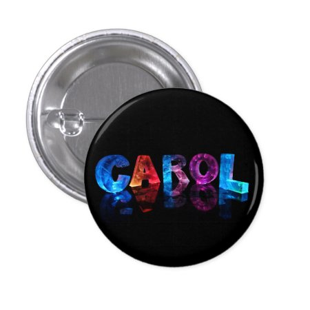 The Name Carol in 3D Lights Pins