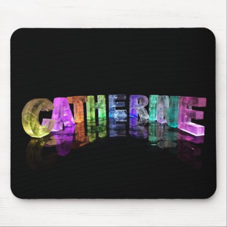 The Name Catherine in 3D Lights Mouse Mat