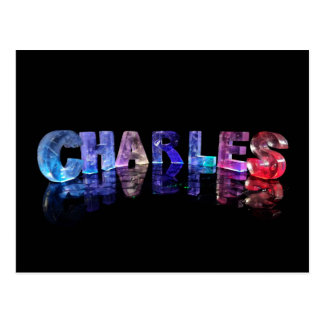 The Name Charles in 3D Lights Postcard