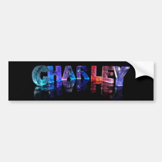The Name Charley in 3D Lights Car Bumper Sticker