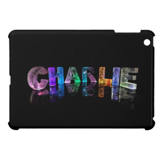 The Name Charlie in 3D Lights iPad Mini Cases