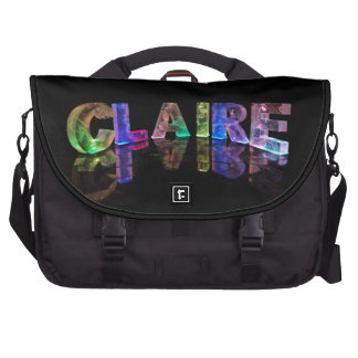 The Name Claire in 3D Lights Commuter Bags