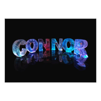 The Name Connor in 3D Lights Photo Print