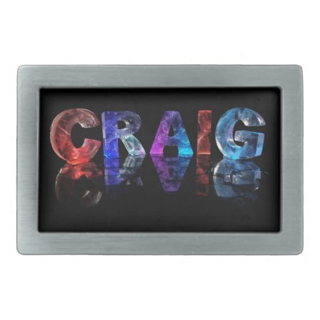 The Name Craig in 3D Lights Belt Buckle