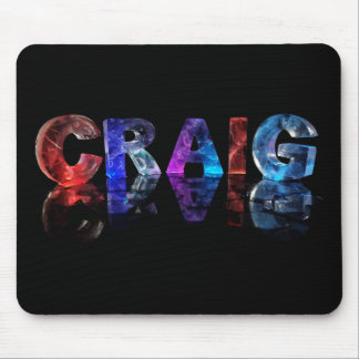 The Name Craig in 3D Lights Mouse Pad