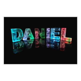 The Name Daniel in 3D Lights (Photograph) Photo Print
