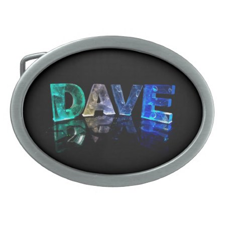 The Name Dave in 3D Lights (Photograph) Belt Buckle