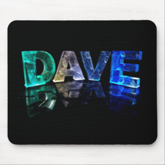 The Name Dave in 3D Lights (Photograph) Mouse Pad