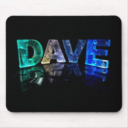 The Name Dave in 3D Lights (Photograph) Mousemat