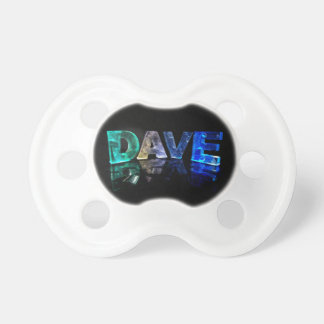 The Name Dave in 3D Lights (Photograph) Pacifier
