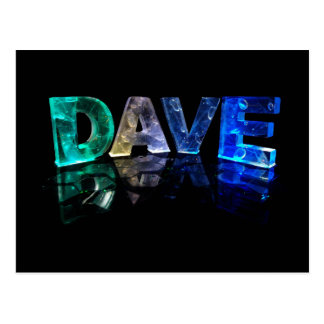 The Name Dave in 3D Lights (Photograph) Postcard