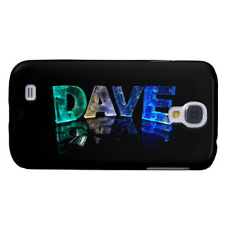The Name Dave in 3D Lights (Photograph) Samsung Galaxy S4 Cover