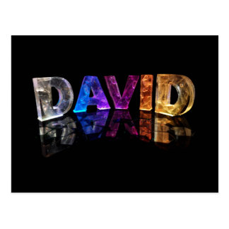 The Name David in 3D Lights (Photograph) Postcard