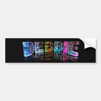 The Name Debbie in 3D Lights (Photograph) Bumper Sticker