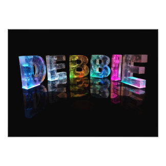 The Name Debbie in 3D Lights (Photograph) Photo Print