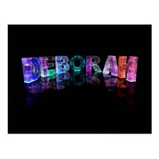 The Name Deborah in 3D Lights (Photograph) Postcard