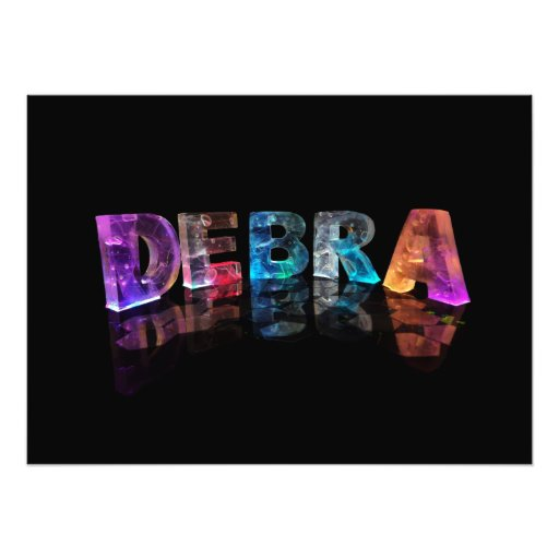 The Name Debra in 3D Lights (Photograph)