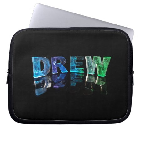 The Name Drew in 3D Lights (Photograph) Computer Sleeve