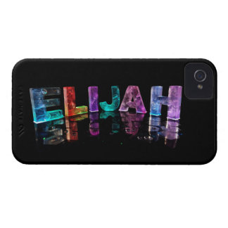 The Name Elijah in 3D Lights (Photograph) iPhone 4 Cover