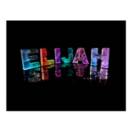 The Name Elijah in 3D Lights (Photograph) Post Cards