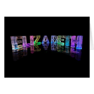 The Name Elizabeth in 3D Lights (Photograph) Card