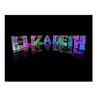 The Name Elizabeth in 3D Lights (Photograph) Postcard