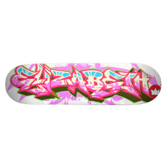 The name Elizabeth in graffiti Skateboard