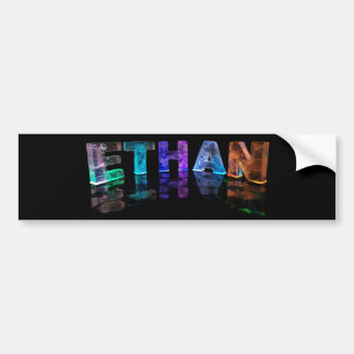 The Name Ethan in 3D Lights (Photograph) Car Bumper Sticker