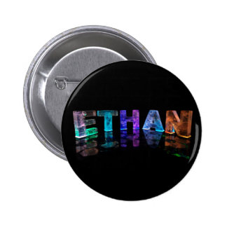 The Name Ethan in 3D Lights (Photograph) Button