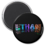 The Name Ethan in 3D Lights (Photograph) Magnet