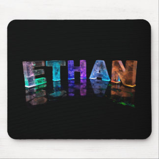 The Name Ethan in 3D Lights (Photograph) Mouse Pad