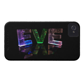 The Name Eve in 3D Lights (Photograph) iPhone 4 Case