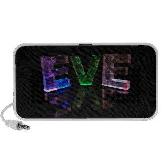 The Name Eve in 3D Lights (Photograph) Travelling Speaker