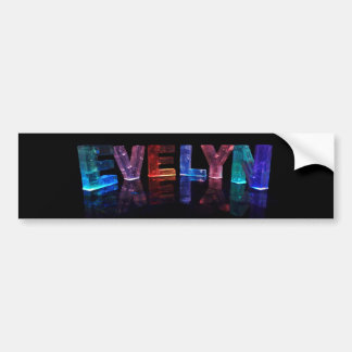 The Name Evelyn in 3D Lights (Photograph) Bumper Sticker