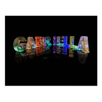 The Name Gabriella in 3D Lights (Photograph) Postcard