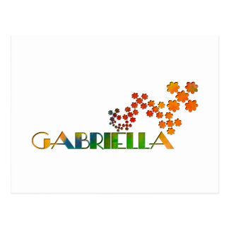 The Name Game - Gabriella Postcard