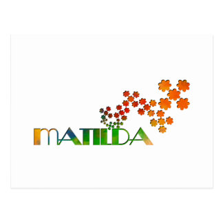 The Name Game - Matilda Postcard