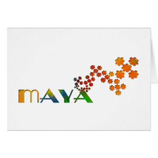 The Name Game - Maya Card