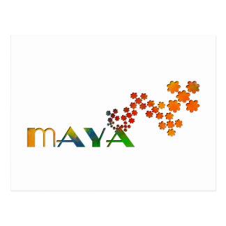 The Name Game - Maya Postcard