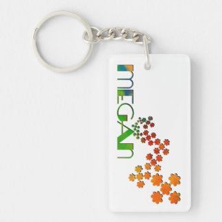 The Name Game - Megan Double-Sided Rectangular Acrylic Keychain
