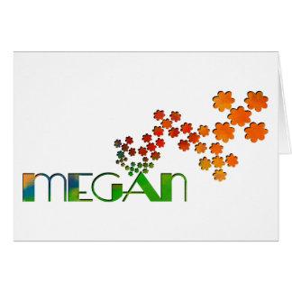 The Name Game - Megan Greeting Card