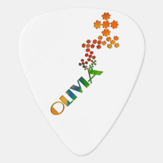 The Name Game - Olivia with some color Guitar Pick