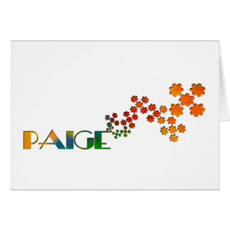 The Name Game - Paige Card