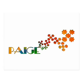The Name Game - Paige Postcard